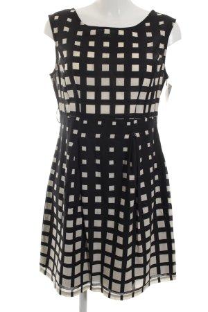 Promod A-Linien Kleid schwarz-creme grafisches Muster Business-Look