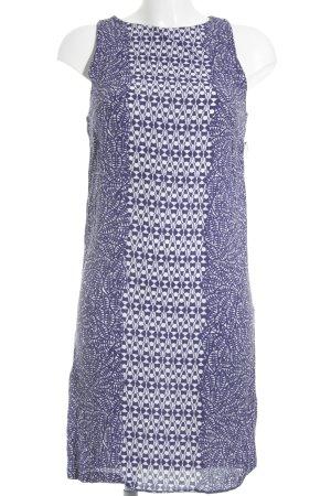 Promod A-Linien Kleid wollweiß-blau Mustermix Elegant
