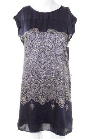 Promod ärmellose Bluse dunkelblau-creme Paisleymuster Boho-Look