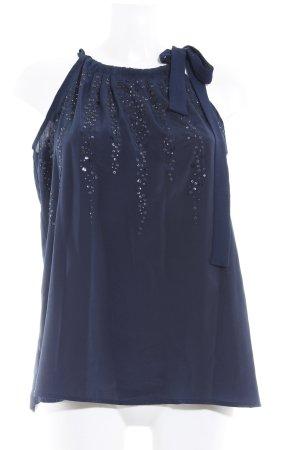 Promod ärmellose Bluse dunkelblau Elegant