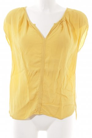 Promod ärmellose Bluse dunkelgelb Casual-Look