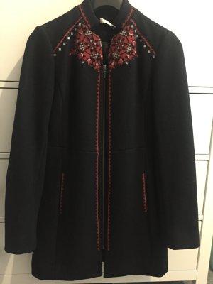 Promod black embroidered coat
