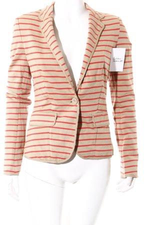 Promod Blazer beige-rot Streifenmuster Casual-Look