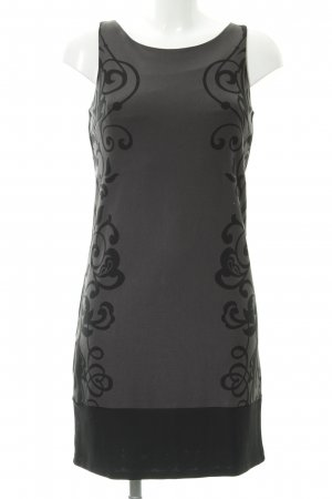 Promod Pencil Dress dark grey-black floral pattern elegant