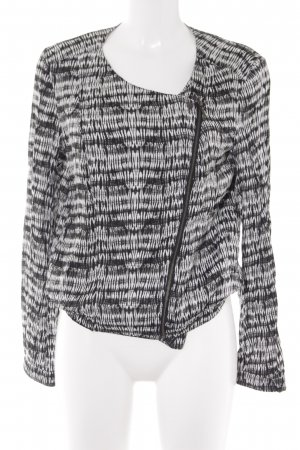 Promod Blouson schwarz-weiß abstraktes Muster Casual-Look