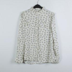 Promod Bluse Gr. M/40 weiß gemustert (19/04/353)