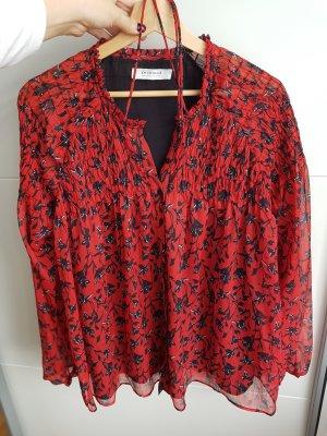 Promod bluse rot schwarz gr. 42