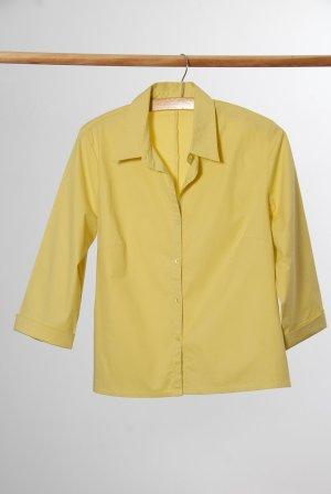 Promod Blusa de manga larga amarillo neón Algodón