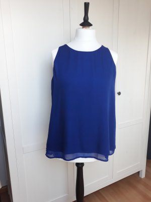 Promod A Line Top blue polyester