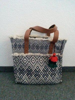 Promod Boho Damen Tasche mit Lederriemen
