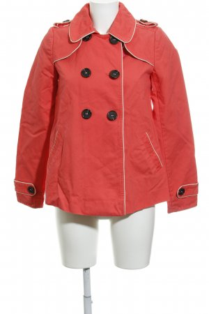 Promod Pea Jacket bright red-oatmeal casual look