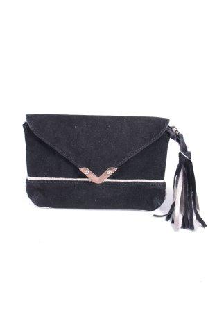 Promod Clutch schwarz-silberfarben klassischer Stil