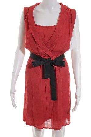 Promod Cocktailkleid rot-schwarz Romantik-Look