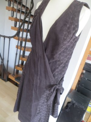 Promod Cord Kleid Wickelkleid grau Gr. 38