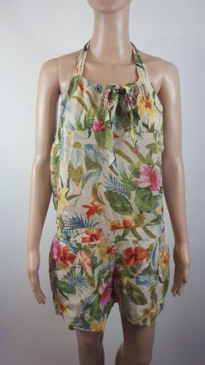 Promod Damen Jumpsuit Onesie Boho Blumenmuster Größe 40 Anzug