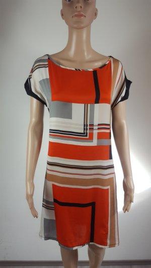 Promod Damen Viskose Color Block Etuikleid Sommerkleid Größe 34 (36/38)