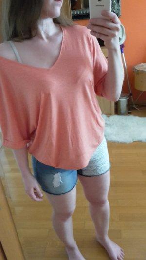 Promod Damen Viskose-Shirt oversize koralle Gr. M