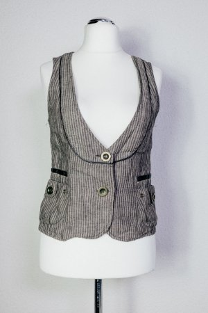 Promod Reversible Vest multicolored linen