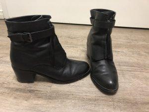 Promod echt Leder Stiefeletten Boots Gr. 38 Reißverschluss