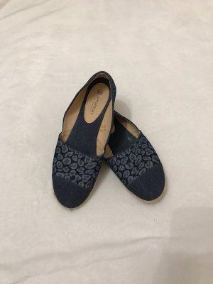 Promod Espadrille Sandals blue-pale yellow