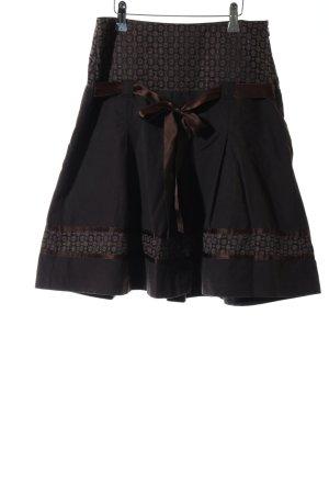 Promod Faltenrock schwarz-bronzefarben Casual-Look