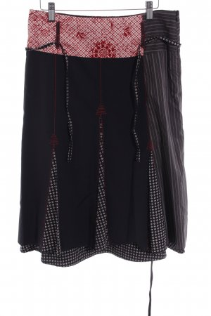 Promod Plaid Skirt abstract pattern extravagant style