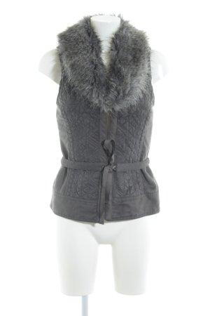 Promod Smanicato di pelliccia grigio scuro stile casual