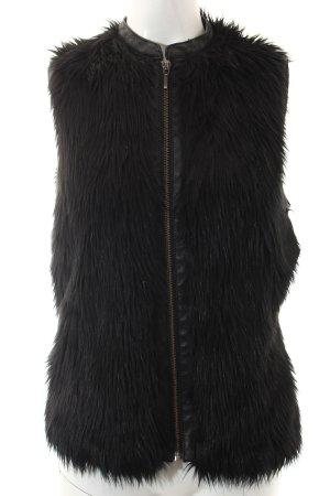 Promod Fellweste schwarz extravaganter Stil