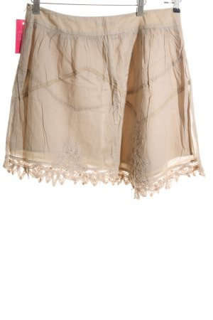 Promod Flared Skirt cream casual look