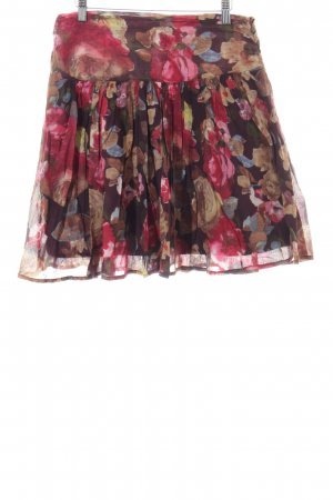 Promod Flared Skirt red-blue allover print casual look