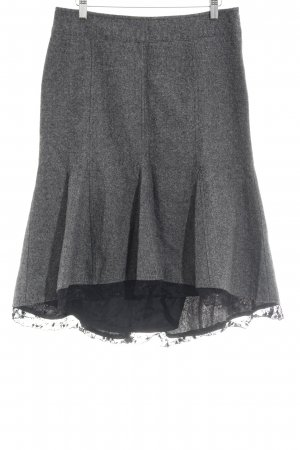 Promod Godet Skirt grey-black flecked romantic style