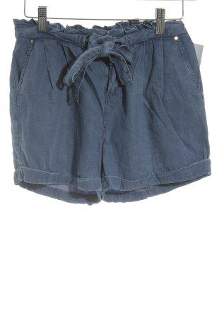 Promod High-Waist-Shorts blau Casual-Look