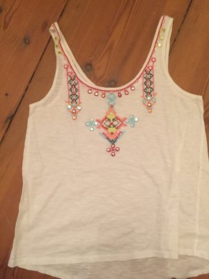 Promod Hippie top mit Stickereien