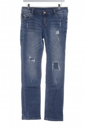 Promod Jeans vita bassa blu acciaio stile atletico