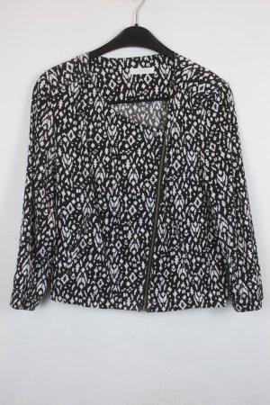 Promod Jacke Blusenjacke Gr. S schwarz weißes Muster (18/3/270)