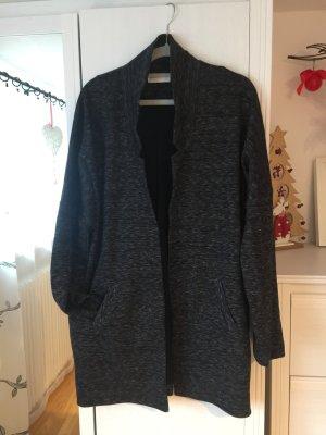 Promod Jacke Cardigan Gr L/XL Oversize schwarz meliert
