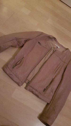 Be only Chaqueta de cuero de imitación color rosa dorado