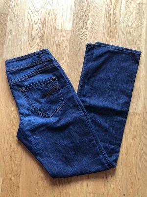 Promod Pantalon strech bleu-bleu foncé
