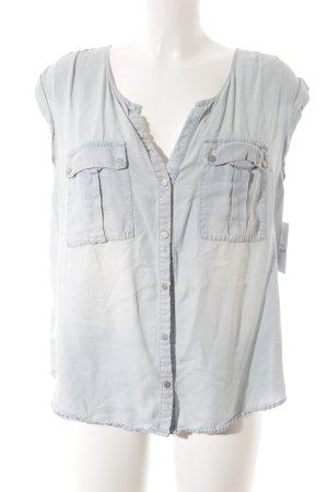 Promod Denim Shirt pale blue minimalist style