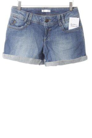 Promod Denim Shorts dark blue-steel blue classic style