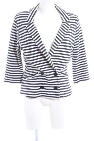 Promod Jersey Blazer blue-white striped pattern business style