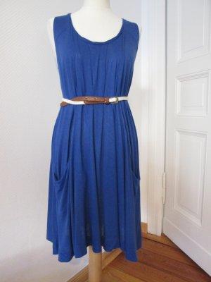 Promod Jerseykleid blau mit Flechtgürtel Gr.36/38