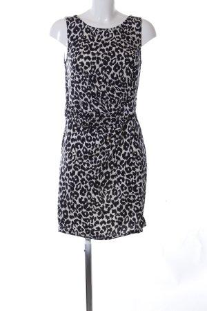 Promod Jerseykleid schwarz-weiß Allover-Druck Elegant