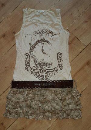 PROMOD Kleid Cowgirl Western Saloon Authentic Style mit Gürtel S 36