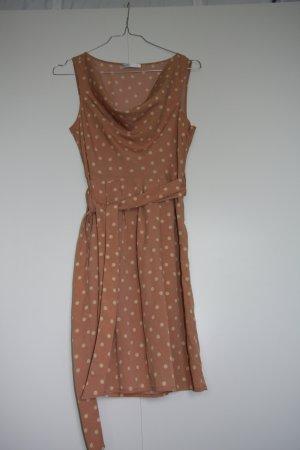 Promod Kleid gepunktet altrosa creme 50s 60s Gr. 34