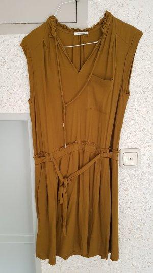 promod kleid gr. 40 grün braun