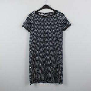 PROMOD Kleid Gr. S schwarz weiß petrol gemustert (18/10/250)