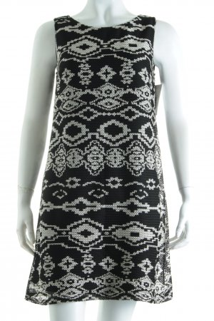 Promod Kleid weiß-schwarz Casual-Look