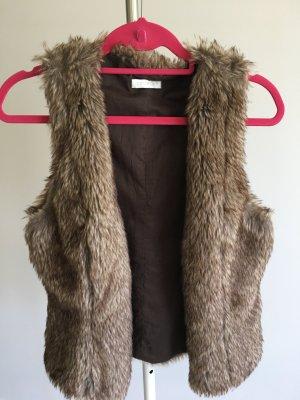 Promod Fake Fur Vest light brown fake fur
