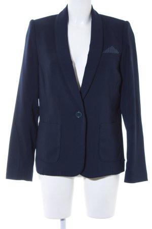 Promod Kurz-Blazer dunkelblau-weiß Business-Look